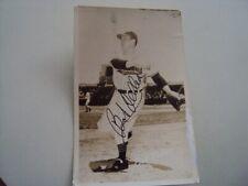Bob Feller sports post card autograph