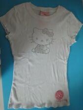Maglietta bianca SANRIO HELLO KITTY Taglia M con spilla ricamata