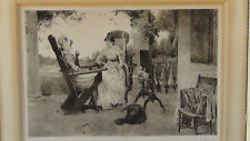 ANTIQUE 19c ENGLISH  ETCHING by JAS.S.KING from OIL PAINTING by J.H.WILL