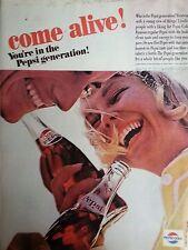 1964 Pepsi Cola Come Alive Pepsi Generation Man Woman Original Ad