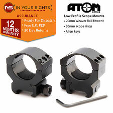 30mm Low profile rifle scope mounts fit 20mm weaver rail/ Riflescope ring mounts