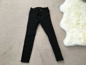 NEXT SKINNY MATERNITY UNDER BUMP BLACK JEANS SZE 10 LEG 28