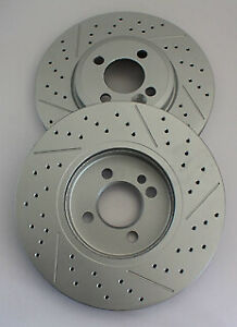 FOR GOLF R MK7 2.0 FRONT AND REAR DRILLED GROOVED DISC & PADS NEW
