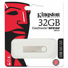 Kingston DataTraveler SE9 G2 DTSE9G2/32GB 32GB 32G USB3.0 Flash Drives