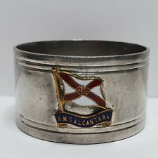 More details for royal mail line rms alcantara english pewter napkin ring 45x25mm