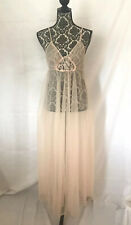 Vtg Fredrick's of Hollywood California Peach Pink Large Sweep Size L Style 9202