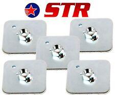 Racing Cablaggio / Cintura di Sicurezza Montaggio Piastra Posteriore Supporto, occhielli PIASTRE (X5 Pezzi)