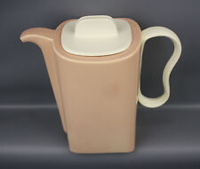 FRANCISCAN TIEMPO PEBBLE APRICOT WHITE COFFEE POT 4 CUP MID-CENTURY MODERN