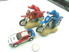 Racing MOTOCROSS MOTORCYCLE slot cars by  Artin + Ford Taurus
