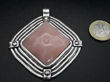 De 1 A 15 Colgante Alta calidad Zamak ROMBO con resina abalorio (IEG-10R) Rosa