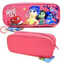 Disney Inside Out Zippered Pencil Case Pouch Bag - Pink Canvas Accessory Bag