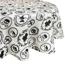 """DII 70"""" Round Cotton Tablecloth, Halloween Portrait - Perfect for CAMZ35674"""