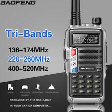 Baofeng UV-S9 Tri-Band UHF/VHF Walkie Talkie 8W Two Way Radio Long Range Scanner