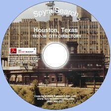 TX - Houston 1937-38 City Directory CD