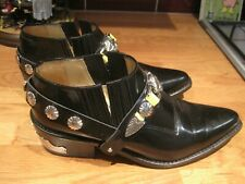 TOGA PULLA BLACK LEATHER SHOE PIXIE BOOTS 38 UK 5