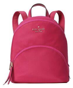 New Kate Spade New York Karissa Nylon Medium backpack Bright Magenta Wkru6586