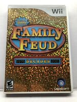 Family Feud Decades - Nintendo Wii - Complete w/ Manual - Tested - Free Ship