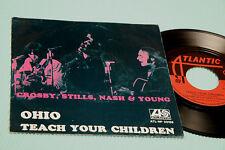 """CROSBY STILLS YOUNG 7"""" OHIO ORIG ITALY 1970 EX+ TOP RARE COLLECTORS"""