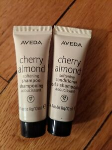 AVEDA Cherry Almond Softening Shampoo and Conditioner Samples Set .34 oz stuffer