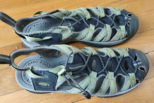 KEEN GREEN Men's sandals - used - worn tags - size 9?  11 inches toe to heel
