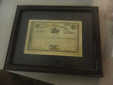 Rare 1848 Bank of Kentucky Capital Stock of the Bank of Kentucky Certificate