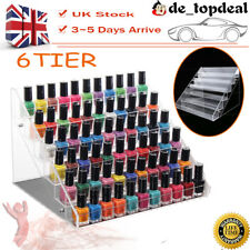 6 Layers Nail Polish Storage Rack Holder Organizer Clear Display Stand Cosmetic