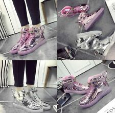 Unbranded Leather Lace Up Solid Shoes for Women