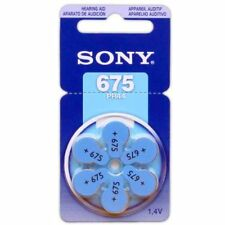 60 Sony Hearing Aid Batteries Size: 675 + Battery Holder Keychain Kit