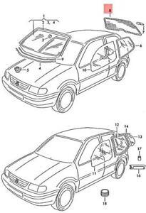 Genuine Volkswagen Rear Window NOS VW Polo Derby Vento-Ind 6N0845051AC