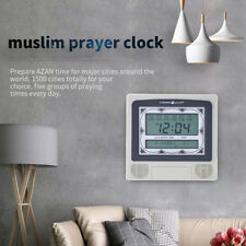 LCD Automatic Islamic Muslim Prayer Azan Athan Alarm Wall Table Clock Qibla Gift