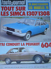 L'AUTO JOURNAL 1975 13 INNOCENTI MINI 120 PEUGEOT 604 PORSCHE 911 TURBO WIMILLE