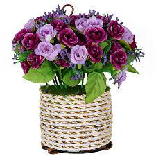 Artificial Flowers Hanging Baskets Semicircle Garden Hanging Spring C'est Suit,