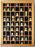 59 Thimble Display Case Wall Shadow Box Cabinet, Solid Wood, Glass Door, TC01-OA