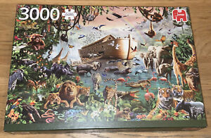 3000 Pieces Jigsaw Puzzle Jumbo Noah's Ark Very Rare Puzzle Complete VGC