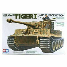 Tamiya 1/35 German Tiger I Tank Mid Production Military Model Kit (35194)