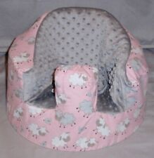 New Bumbo Floor Seat Cover • Flannel Sheep • Safety Strap Ready