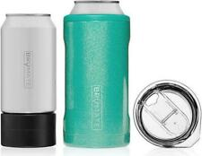 Hopsulator Trio 3-in-1 Stainless Steel Insulated Can Cooler, Glitter Peacock