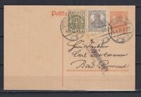 GERMANY 1917-1918, Deutches Reich, Double message and reply card of the 10 pfg.