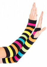 Colorful Rainbow Long Fingerless Gloves Pride Parade Festival Warm Arm Warmers