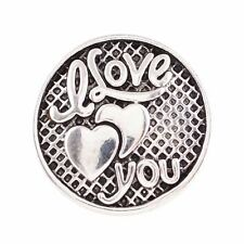 I LOVE YOU Metal Snap 18-20mm Snap Interchangeable Jewelry Fits Ginger Snaps