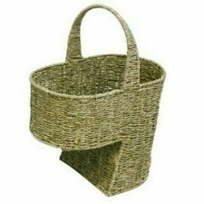 Woodluv Seagrass Handwoven Stair Step Storage Basket (E01-117)