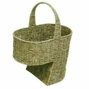 Seagrass Stair Basket/Step Storage Basket with Handle, Large