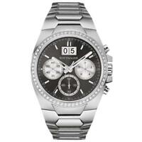 Wittnauer Men's Quartz Chronograph Crystal Accents Silver-Tone 41mm Watch WN3049