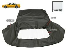 Ford Mustang 1983-1993 Convertible Soft Top & Plastic Window White Pinpoint