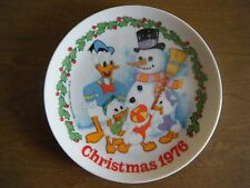 Schmid Disney 1976 CHRISTMAS COLLECTORS PLATE Mickey Mouse Goofy Donald Duck