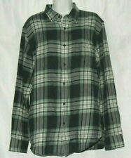 NEW Banana Republic Men's Plaid Shirt Blue and Green Size L Light Flannel Feel