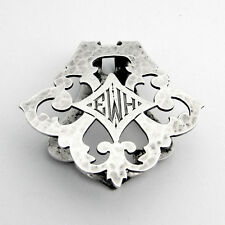 Arts And Crafts Openwork Napkin Clip Sterling Silver Watrous 1920
