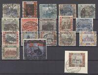 Saargebiet Mi.Nr. 53-69, Freimarken 1921 gestempelt (30447)