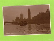 London Houses of Parliament from river unused RP pc Judges L8  Ref J305