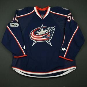2016-17 Scott Harrington Columbus Blue Jackets Game Issued Hockey Jersey NHL